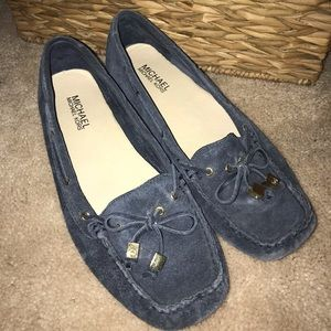 Michael Kors suede leather loafers
